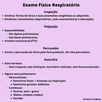 Exame físico respiratório