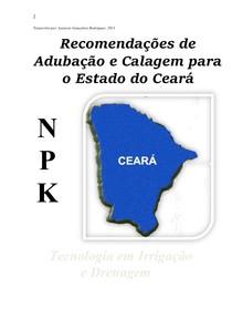 Sugestões de Adubação e Calagem no Estado do Ceará Leoncio