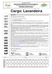 crescer consultorias 2017 prefeitura de luis correia pi lavandeira prova
