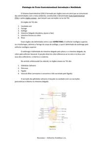 RESUMO - Trato Gastrointestinal-- Introdução e Motilidade