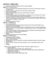 SÍNDROMES CEREBELARES - Machado