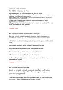 Atividade de revisão Suinocultura