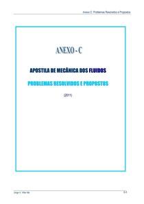 Mecânica dos Fluídos - Problemas Resolvidos e Propostos