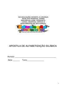 APOSTILA DE ALFABETIZAÇÃO SILÁBICA