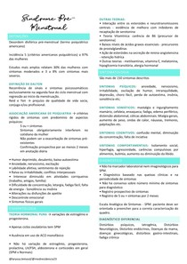 Síndrome Pré menstrual e Dismenorreia