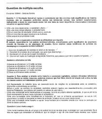 Avaliação Ciências Sociais - 2º semestre - 30/09/2016