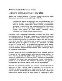 A UNIVERSALIDADE DO FENOMENO JURIDICO
