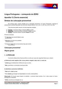 Português - Colocação Pronominal