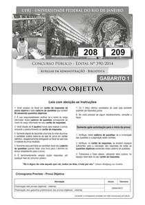 pr 4 ufrj 2015 ufrj auxiliar em administracao biblioteca prova