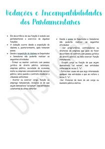 Vedações e incompatibilidades dos parlamentares - Direito Constitucional