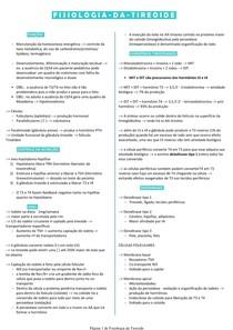 Fisiologia endócrina - Tireoide