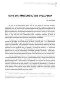Texto I - Crise ambiental ou civilizatoria