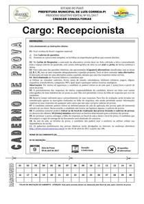 crescer consultorias 2017 prefeitura de luis correia pi recepcionista prova