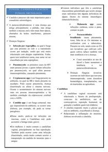 FUNGOS - CANDIDA E PARACOCCIDIOIDOMICOSE