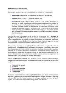 PRINCÍPIOS DO DIREITO CIVIL E LEI DE INTRODUÇÃO AS NORMAS DO DIREITO BRASILEIRO