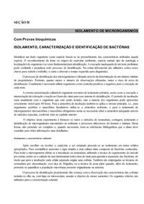 Atividade de  provas bioquimicas (microbiologia)