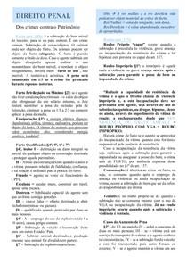 FURTO, ROUBO E LATROCINIO - DIREITO PENAL