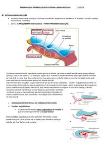EMBRIOLOGIA - EMBRIOLOGIA DO SISTEMA CARDIOVASCULAR