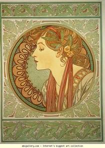 Alphonse Mucha - Laurel
