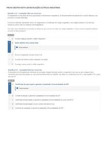 PROVA OBJETIVA NOTA 100 INSTALAÇÕES ELÉTRICAS INDUSTRIAIS