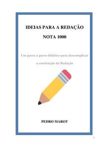 Ideias para redação nota 1000
