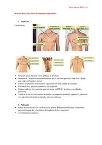 Roteiro de exame físico do sistema respiratório