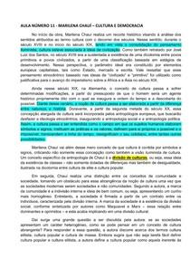 FBDG - AULA 11 - ANTROPOLOGIA/ NIDE