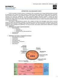 FARMACOLOGIA 16 - Antibióticos 2- ABORDAGEM CLÍNICA - AGOSTO-2011