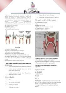 Pulpotomia   Endodontia