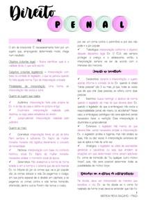 DIREITO PENAL I - PROF MAYANA (RESUMO PART 2)