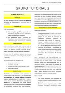 TUTORIA 2 UNIDADE 13 - Dor Neuropática