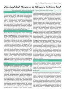 Reto, canal anal, mecanismos de defecação e continência fecal