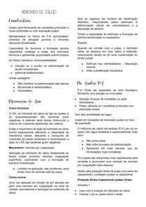 HIDROXIDO DE CÁLCIO E VERNIZ CAVITÁRIO