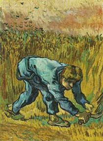 Vincent Willem van Gogh-Reaper-com-Foice-After-Millet