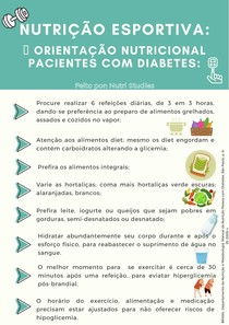 Orientação nutricional diabetes