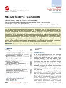 toxicidade de nanomateriais