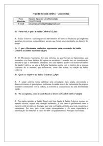 Saúde Bucal Coletiva (Atividade)