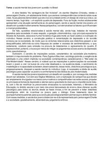 a saúde mental dos jovens em questão no Brasil
