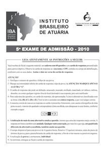 Exame IBA 2010