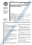 NBR 6032 Abreviações e Títulos Periódicos 1989
