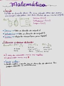 Matemática - Resumo função