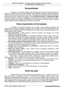 Prática Processual Petição Inicial E Embargos à Execução E