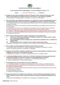 Exame de Recorrencia de epidemiologia I-correccao