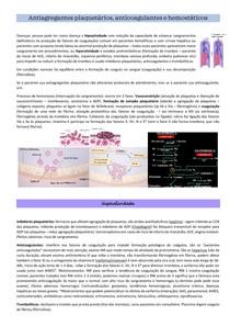 Antiagregantes plaquetários, anticoagulantes e hemostáticos