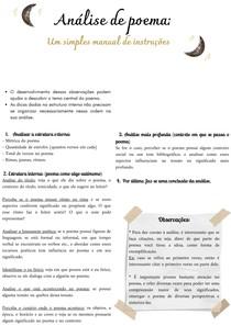 Análise de poema - Um simples manual de instruções