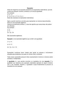 equações 1