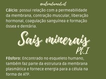 Sais minerais - Bioquímica