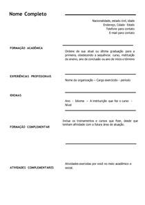 Exemplo de Currículo