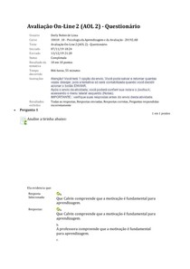 AOL 2_Revisar envio do teste
