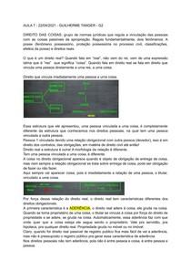 Introdução direitos reais - classificações - Tanger - Direito Civil IV - FMP